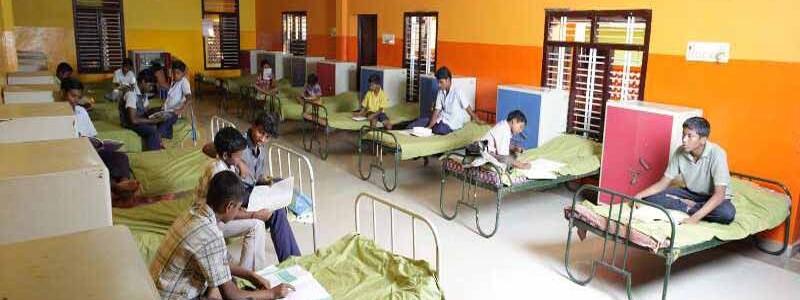 Sri Saraswathi Vidhyaalaya School Hostel Room